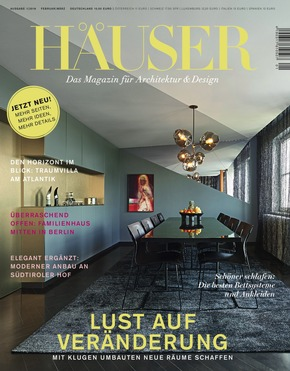 Gruner+Jahr, HÄUSER: Deutschlands Premium Architektur Magazin Startet  Qualitätsoffensive: HÄUSER