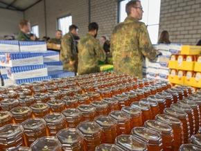 An zwei Tagen werden Lebensmittel im Wert von 350.000 Euro verpackt (Quelle: PIZ Personal/Andreas Metka)