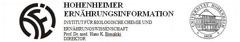 Hohenheimer Ernährungsinformation (HEI) Institut für Biologische Chemie und Ernährungswissenschaft