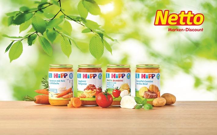 """Netto Marken-Discount erweitert sein umfangreiches Babysortiment. Ab Anfang Juli finden Eltern bei Netto unter anderem über 40 neue Bio-Produkte von Hipp sowie Flaschen und Schnuller von NUK. Weiterer Text über ots und www.presseportal.de/nr/72216 / Die Verwendung dieses Bildes ist für redaktionelle Zwecke honorarfrei. Veröffentlichung bitte unter Quellenangabe: """"obs/Netto Marken-Discount AG & Co. KG"""""""