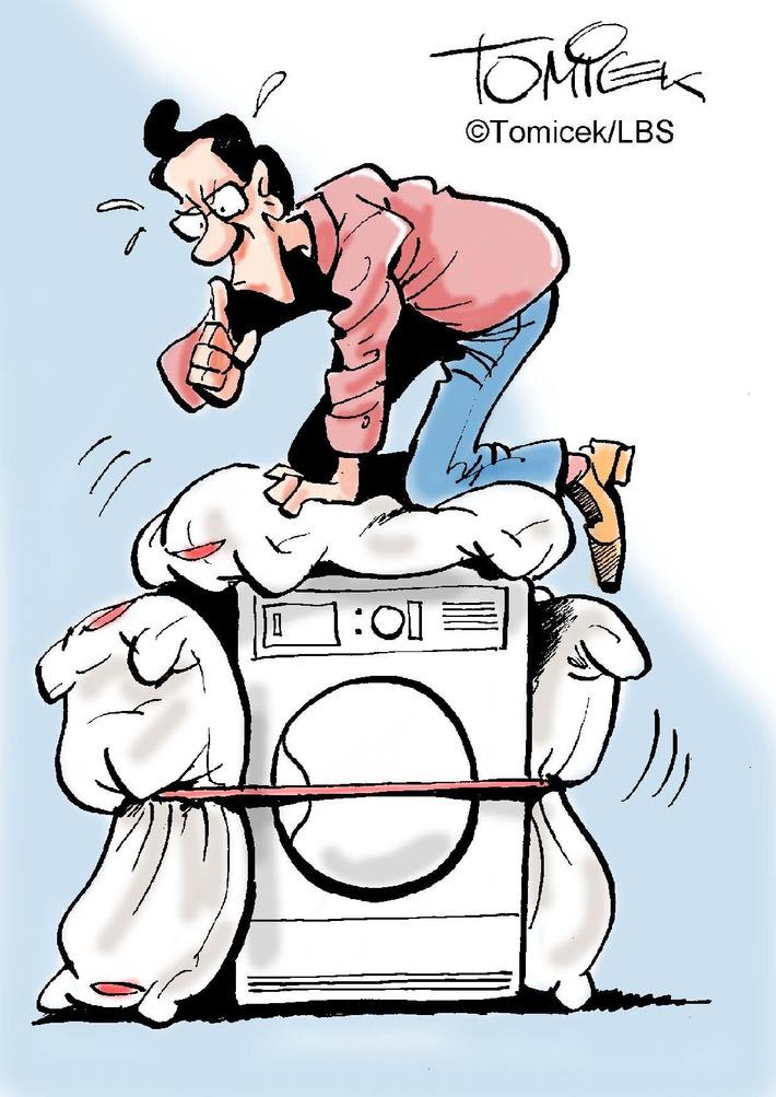 """Wenn der Trockner """"singt"""" / Er darf ebenso wie eine Waschmaschine in einer Mietwohnung betrieben werden"""