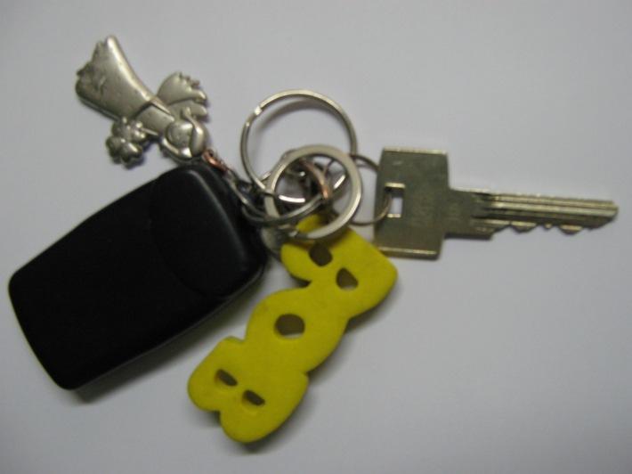 Sichergestellter Schlüsselbund