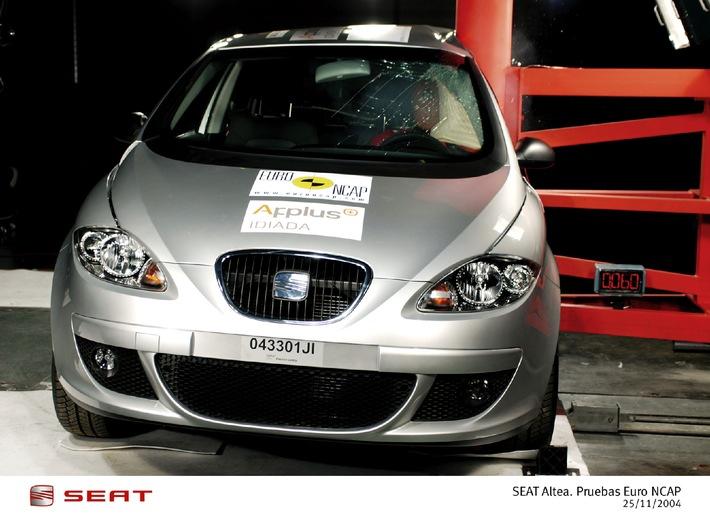 Sicherheit gross geschrieben: SEAT Altea: Klassenprimus beim EuroNCAP Crashtest