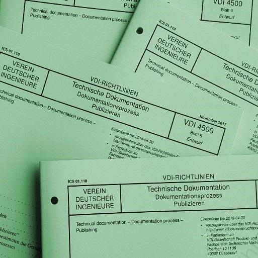 Neue Richtlinie VDI 4500 Blatt 6 bietet Entscheidungshilfe zur Bewertung und Einführung relevanter Software-Systeme für Technische Dokumentation (Bild: VDI)