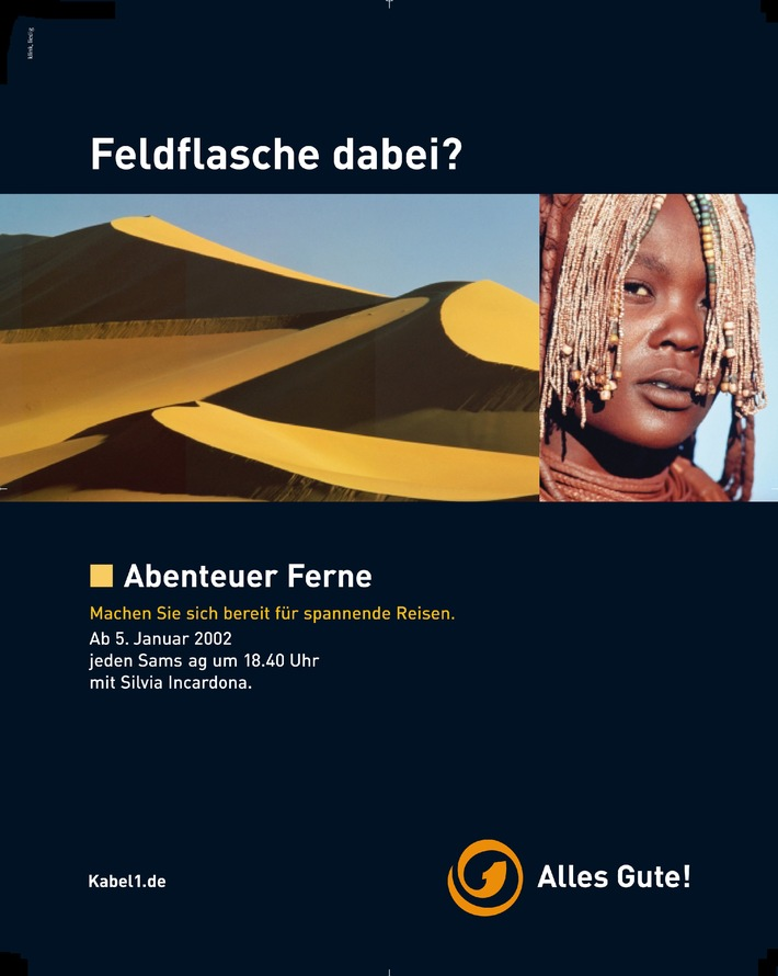 """Bundesweite Kampagne zum Start von """"Abenteuer Ferne"""", dem neuen Reise- und Erlebnismagazin bei Kabel 1"""