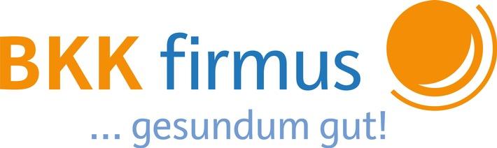 """Logo der BKK firmus. Weiterer Text über ots und www.presseportal.de/nr/139201 / Die Verwendung dieses Bildes ist für redaktionelle Zwecke honorarfrei. Veröffentlichung bitte unter Quellenangabe: """"obs/BKK firmus"""""""