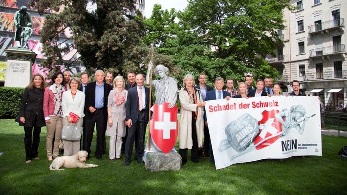 Aktion gegen die AUNS-Initiative