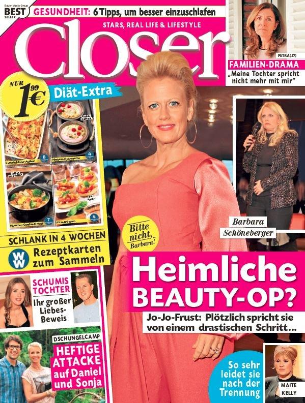 """Cover Closer 6/2018 Weiterer Text über ots und www.presseportal.de/nr/104352 / Die Verwendung dieses Bildes ist für redaktionelle Zwecke honorarfrei. Veröffentlichung bitte unter Quellenangabe: """"obs/Bauer Media Group, Closer/Closer"""""""