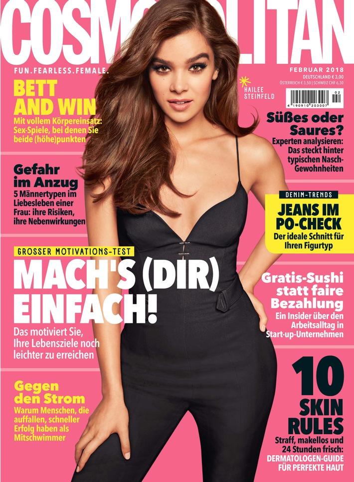 COSMOPOLITAN Cover 2/2018. Weiterer Text über ots und www.presseportal.de/nr/45267 / Die Verwendung dieses Bildes ist für ...