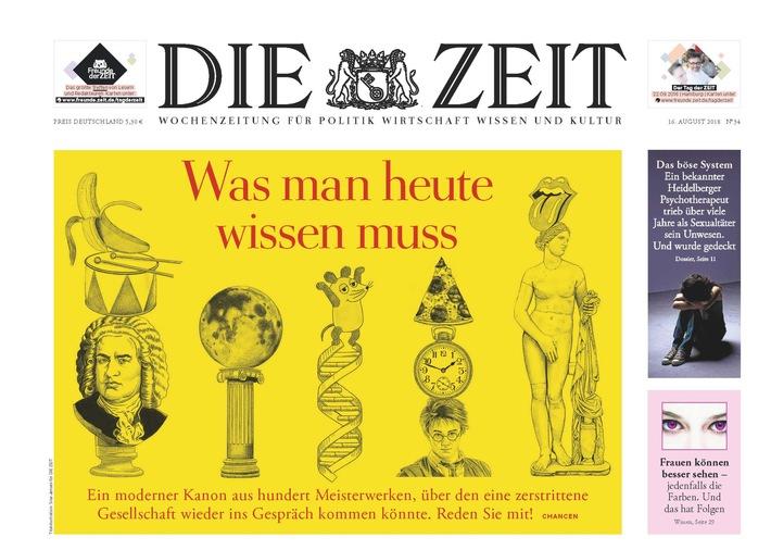 """DIE ZEIT 34/18. Weiterer Text über ots und www.presseportal.de/nr/9377 / Die Verwendung dieses Bildes ist für redaktionelle Zwecke honorarfrei. Veröffentlichung bitte unter Quellenangabe: """"obs/DIE ZEIT"""""""