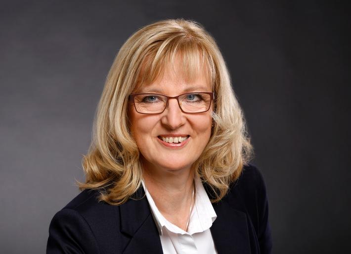 Die Prsidentin der Psychotherapeutenkammer Hessen, Dr. Heike Winter, wirbt zum