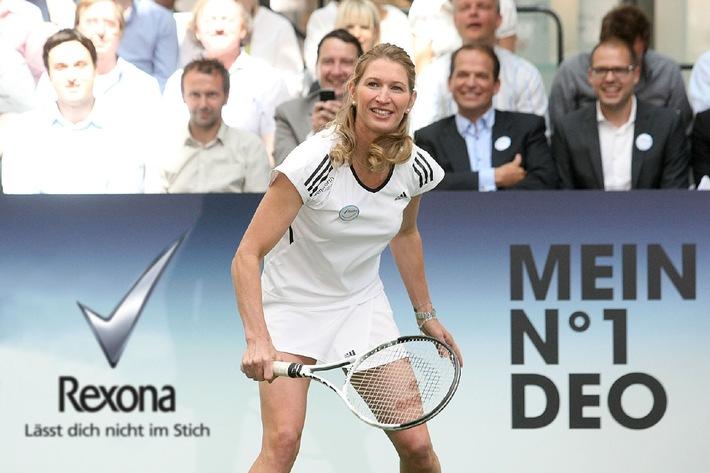 Spiel, Satz und Sieg: Stefanie Graf begeistert in Hamburg beim Rexona Charity-Tennis-Turnier im Unilever Haus