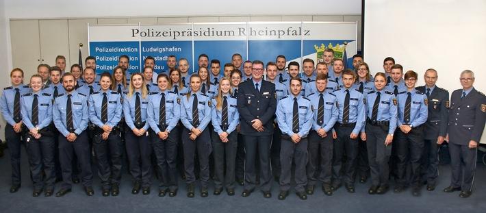 Neue Polizisten für das Polizeipräsidium Rheinpfalz
