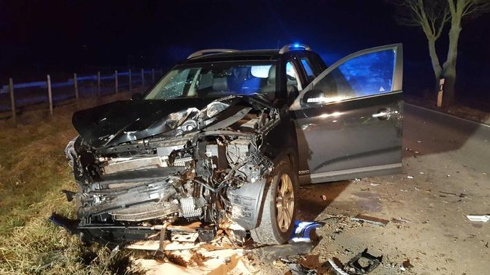 POL-GG: Verkehrsunfall mit Verletzten