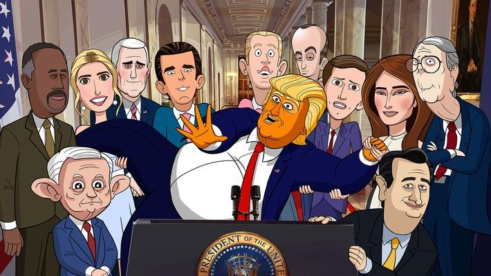 "Die Showtime-Animationsserie ""Our Cartoon President"" im Februar exklusiv bei Sky"