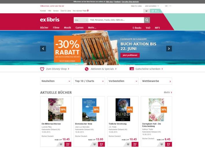 Ex Libris mit neuem Online-Shop und Auftritt