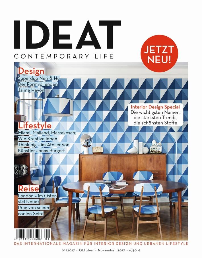 Nicht einfach noch ein Interior-Magazin: Gruner + Jahr startet IDEAT