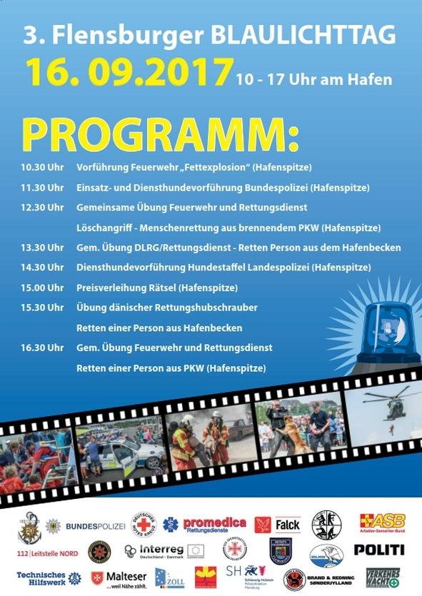 BPOL-FL: Presseeinladung - Nur noch 2 Tage bis zum 3. Flensburger Blaulichttag