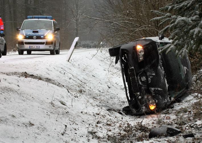 Im Haarener Wald verunglückte eine 29-jährige Seatfahrerin