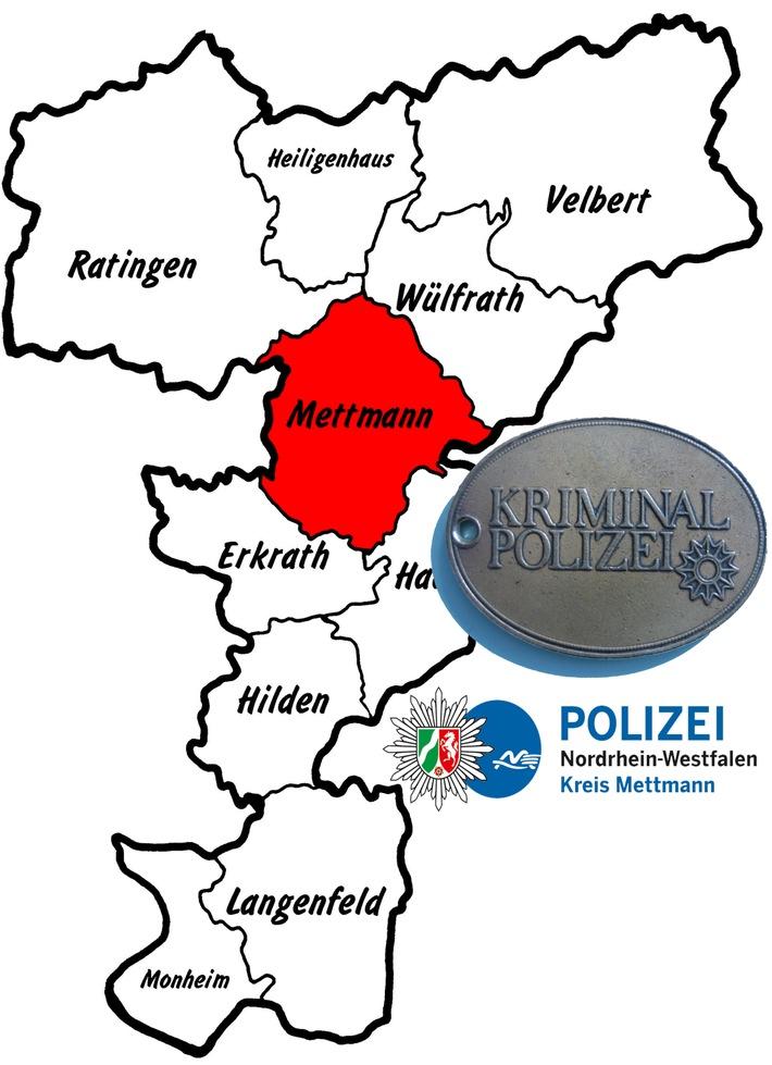 Symbolbild: Die Mettmanner Kriminalpolizei ermittelt aktuell zu einem Raubdelikt an der Talstraße
