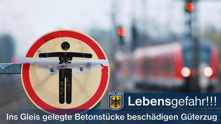 Die Bundespolizei warnt vor dem Betreten von Bahnanlagen.