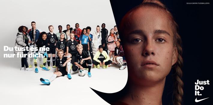 """JDI Kampagne_Giulia Gwinn Weiterer Text über ots und www.presseportal.de/nr/17378 / Die Verwendung dieses Bildes ist für redaktionelle Zwecke honorarfrei. Veröffentlichung bitte unter Quellenangabe: """"obs/Nike Deutschland GmbH"""""""