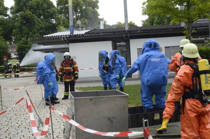 KFV-CW: Chlorgasunfall im Badepark Nagold Keine Verletzten - Bad bleibt bis auf weiteres geschlossen