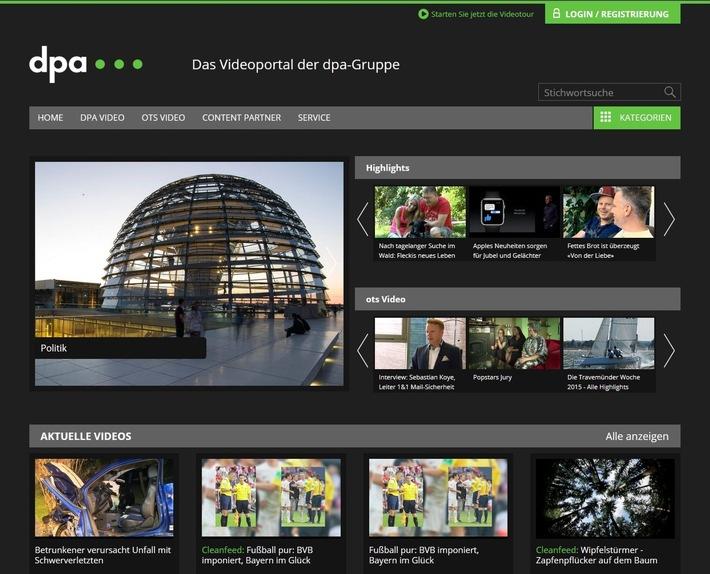 Mehr Inhalt, neue Funktionen: dpa-Videoplattform wird zur Bewegtbild-Drehscheibe