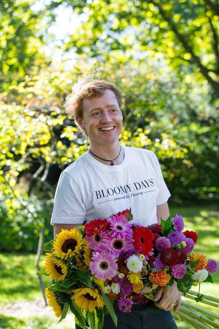 Björn Kroner wird Markenbotschafter von BLOOMY DAYS powered by Fleurop. Foto: @Fleurop AG