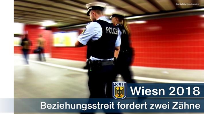 Zwei fehlende Zähne, nach einem Beziehungsstreit am Ostbahnhof, sowie prügelnde Italiener im Hauptbahnhof, beschäftigten die Münchner Bundespolizei - neben anderen Delikten - am Montag.