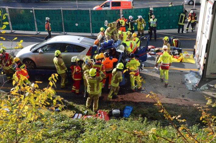 Verkehrsunfall BAB 3 am 17.11.2017