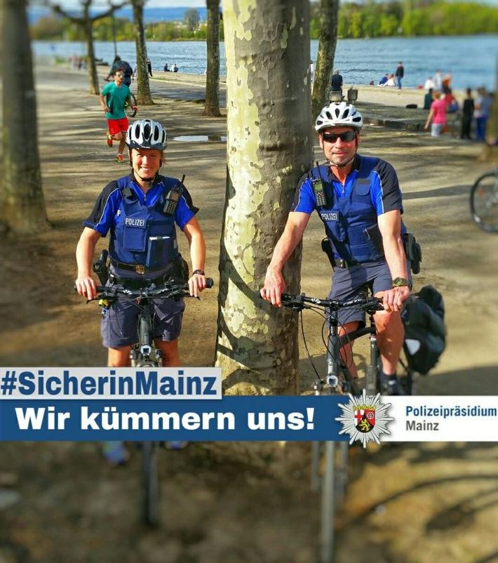 Fahrradstreife der Polizei Mainz
