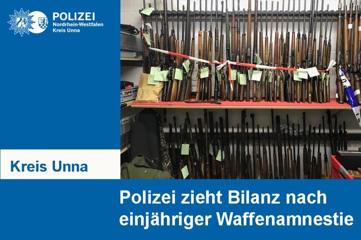Kreispolizeibehörde Unna zieht Bilanz nach einjähriger Waffenamnestie