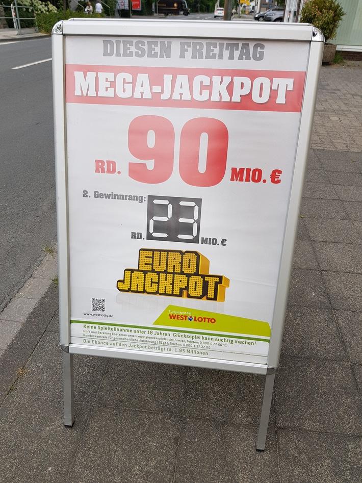 Zwei Deutsche teilen sich den Mega-Jackpot / Jeweils 45 Millionen Euro nach Hessen und Sachsen-Anhalt