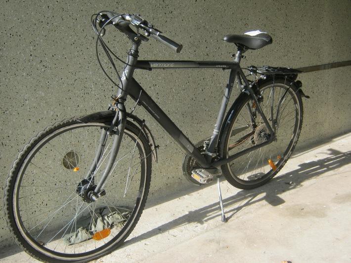 Das beschädigte Fahrrad