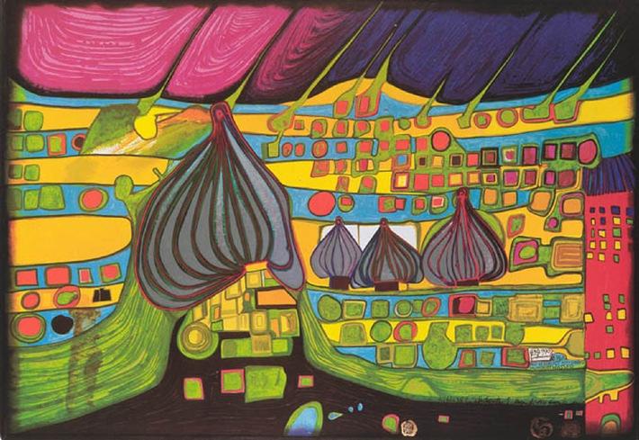 Ausstellung: Kunst, Natur, Mensch - Friedensreich Hundertwasser