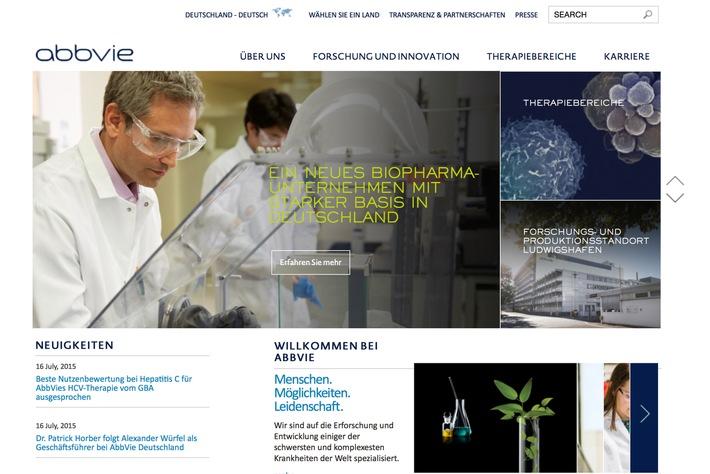 abbvie.de: Neuer Internetauftritt des BioPharma-Unternehmens AbbVie Deutschland