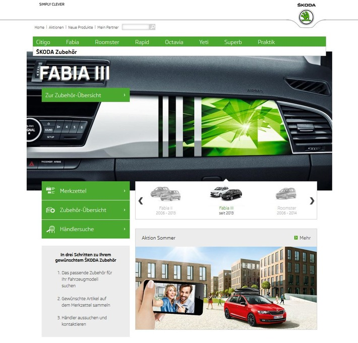 Skoda Update Portal – transport