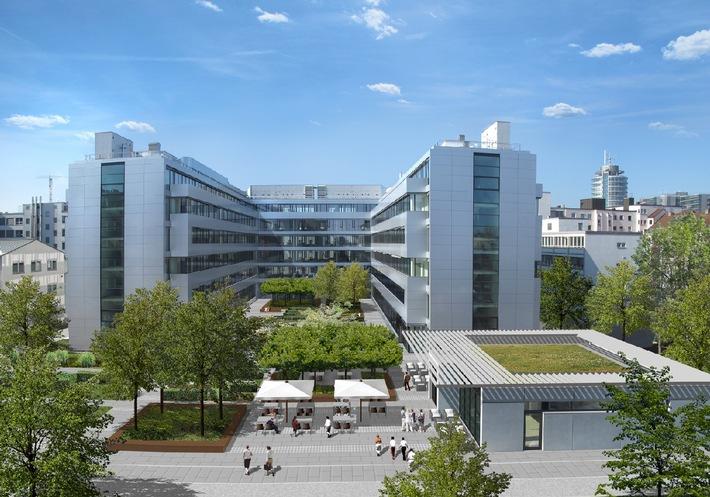 """Der neue Bürokomplex von Rohde & Schwarz in Muenchen / Die Verwendung dieses Bildes ist für redaktionelle Zwecke honorarfrei. Veröffentlichung bitte unter Quellenangabe: """"obs/Rohde & Schwarz"""""""