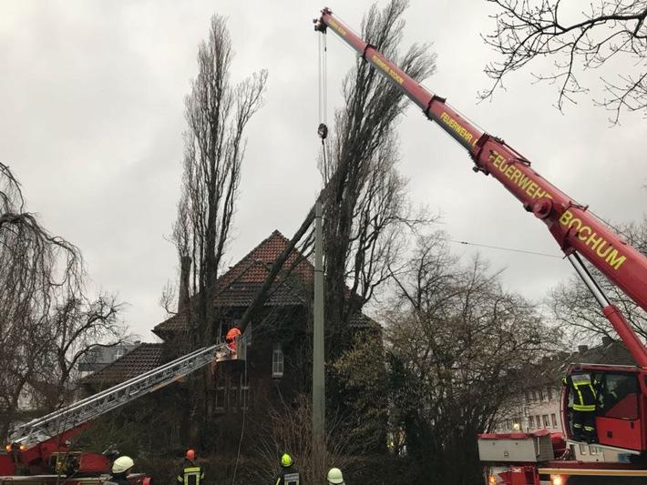 Foto: Feuerwehr Bochum / Sturmeinsatz