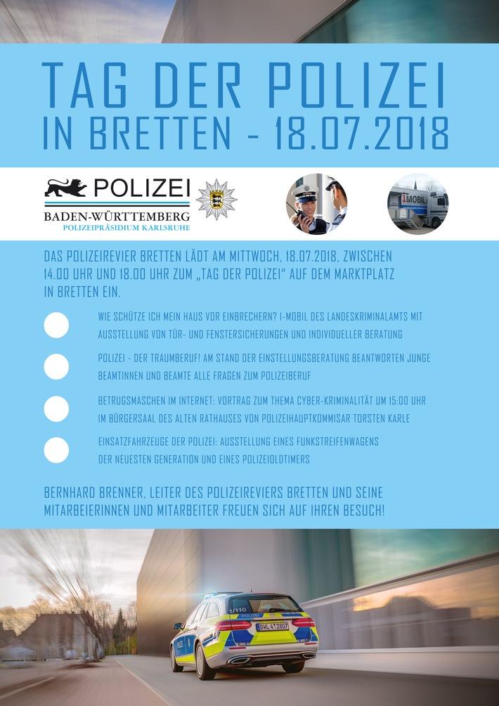 POL-KA: (KA) Bretten - Einladung zum Tag der Polizei in Bretten