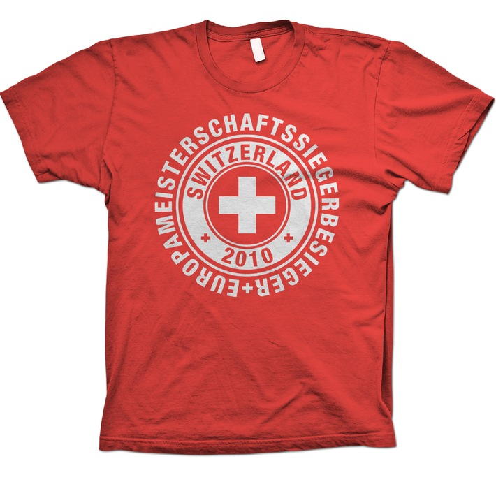 Europameisterschaftssiegerbesieger / Das Fan T-Shirt zur WM-Sensation findet reissenden Absatz; nicht nur in der Schweiz