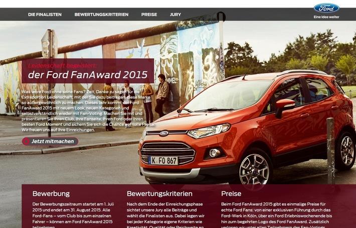 Finalisten des Ford FanAward 2015 stehen fest