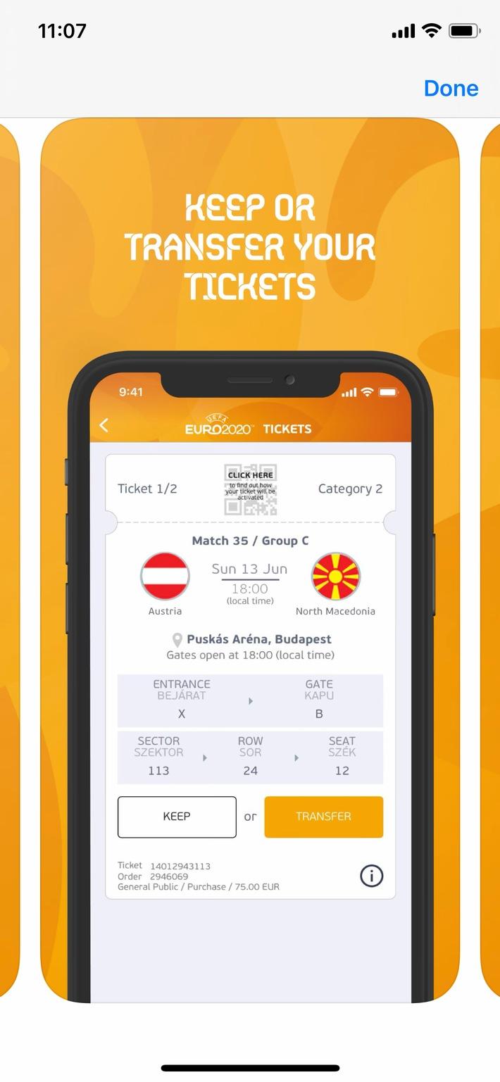 BILD zu OTS - Fälschungs- und Weitergabe sicheres Ticket am Handy
