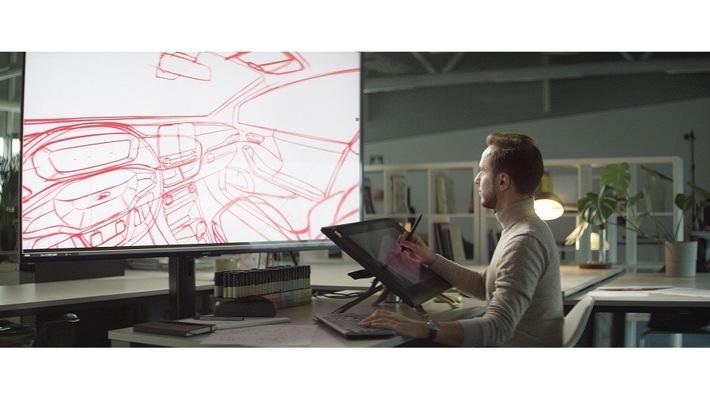 """360°-Skizzen befördern Designer direkt auf den Fahrersitz. Weiterer Text über ots und www.presseportal.de/nr/6955 / Die Verwendung dieses Bildes ist für redaktionelle Zwecke honorarfrei. Veröffentlichung bitte unter Quellenangabe: """"obs/Ford-Werke GmbH"""""""