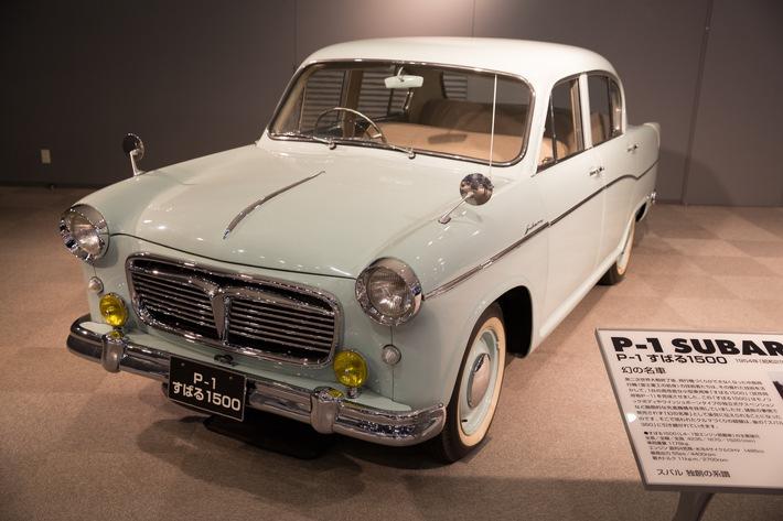 """Der Markenname Subaru kommt erstmals zum Einsatz beim Prototypen P-1 aus dem Jahre 1954, der später in Subaru 1500 umbenannt wurde. Weiterer Text über ots und www.presseportal.de/nr/34801 / Die Verwendung dieses Bildes ist für redaktionelle Zwecke honorarfrei. Veröffentlichung bitte unter Quellenangabe: """"obs/Subaru"""""""