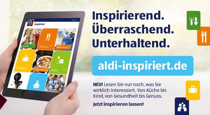 """ALDI SÜD ruft einen neuen digitalen Kanal ins Leben. Ab sofort werden Kunden unter aldi-inspiriert.de Inhalte angeboten, die individuell auf ihre Interessen zugeschnitten sind und Inspiration unter anderem zu Unternehmungen, Dekoration oder Rezepten liefern. Weiterer Text über ots und www.presseportal.de/nr/108584 / Die Verwendung dieses Bildes ist für redaktionelle Zwecke honorarfrei. Veröffentlichung bitte unter Quellenangabe: """"obs/© ALDI SÜD"""""""