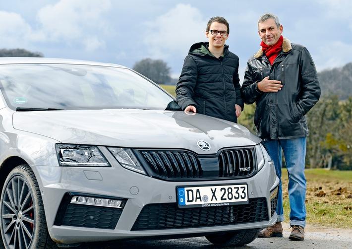 Rallye-Fahrer trifft Schriftsteller