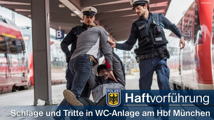 Drei Polen gerieten in einer WC-Anlage im Hauptbahnhof München aneinander. Ein 26-Jähriger wird dem Haftrichter vorgeführt.