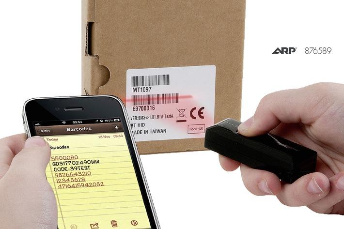 ARP lanciert kleinsten Barcode-Scanner der Welt